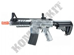 DPMS Kitty Kat Pro Grade Electric Airsoft Machine Gun Black and Clear